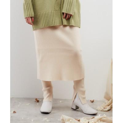 スカート ニットパンツ付きスカート