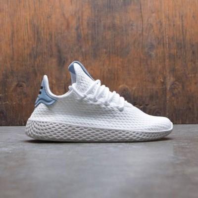 ユニセックス スニーカー シューズ Adidas x Pharrell Williams Big Kids Tennis HU J (white / footwear white / tactile blue)