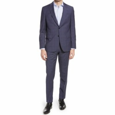 テッドベーカー TED BAKER LONDON メンズ スーツ・ジャケット アウター Jay Slim Fit Windowpane Wool Suit Navy