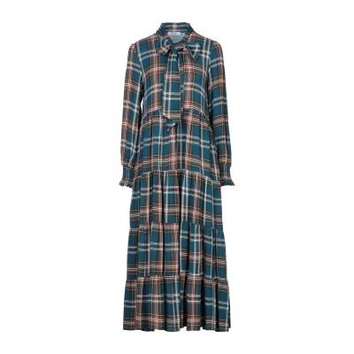 TENAX 7分丈ワンピース・ドレス ディープジェード 46 レーヨン 100% 7分丈ワンピース・ドレス