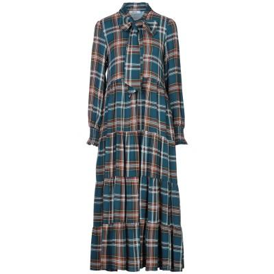TENAX 7分丈ワンピース・ドレス ディープジェード 40 レーヨン 100% 7分丈ワンピース・ドレス