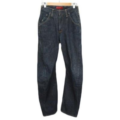 【中古】エドウィン EDWIN EFUNCTION E2000 パンツ ジーンズ デニム 立体裁断 28 紺 ネイビー メンズ 【ベクトル 古着】