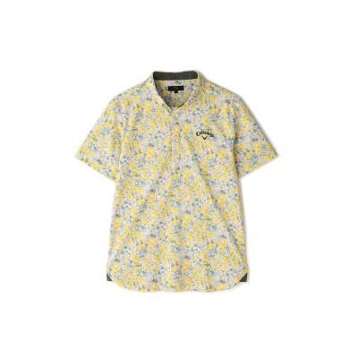 キャロウェイセーター花柄プリント半袖シャツ -1134518-130黄緑