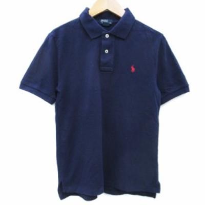 【中古】ポロ バイ ラルフローレン Polo by Ralph Lauren ポロシャツ 半袖 ポロカラー M 紺 ネイビー /FF38 メンズ