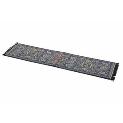 イケヒコ 玄関マット い草 国産 『Fビビアン 上がり框』 ブルー 約30×120cm(裏:ウレタン)