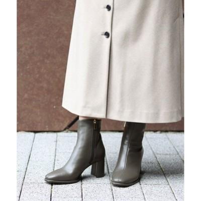 ブーツ GRISE 6.5cmチャンキーヒールショートブーツ◆