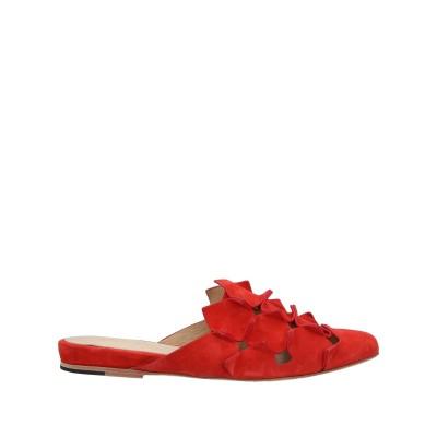 I.N.K. Shoes ミュールサボ 赤茶色 39 革 ミュールサボ