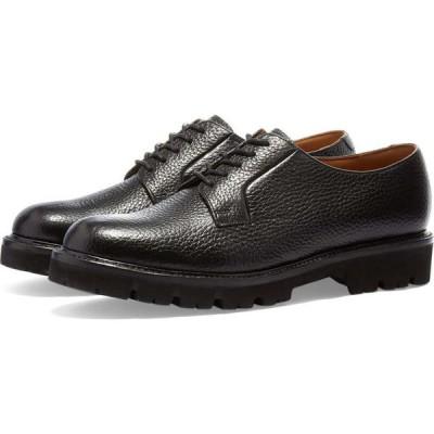 グレンソン Grenson メンズ 革靴・ビジネスシューズ シューズ・靴 Melvin XL Sole Oxford Shoe Black Natural Grain