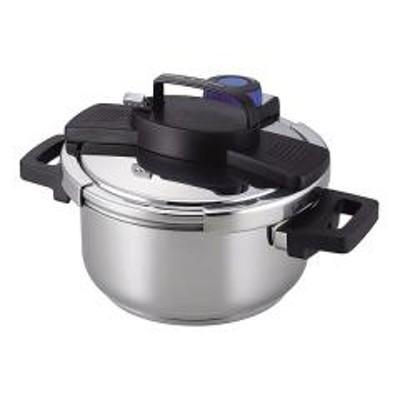 圧力鍋 4L IH対応 3層底 ワンタッチレバー 7合炊 (  両手 ガス火対応 )