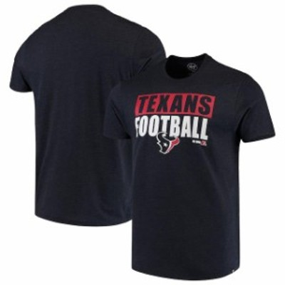 47 フォーティーセブン スポーツ用品  47 Houston Texans Navy Blockout Club T-Shirt