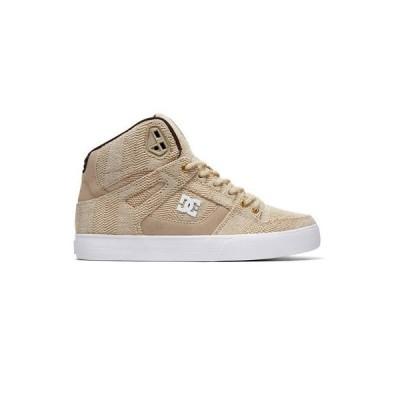 スニーカー ディーシーシューズ DC Shoes Men's Pure Hi Top WC TX LE Sneaker Shoes Tan Brown (TA1) Skate