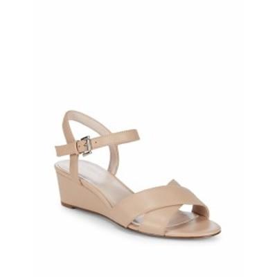 ナインウエスト レディース シューズ サンダル Lucy Leather Wedge Sandals