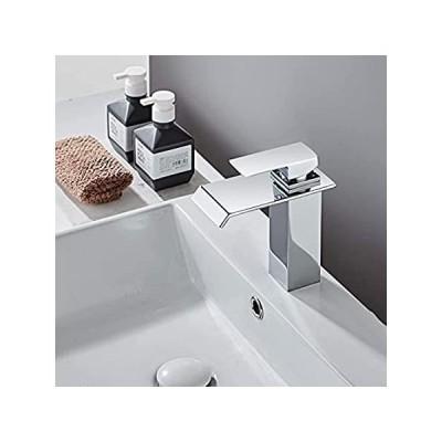 Yodel シングルハンドル 滝状吐水口 バスルーム バニティシンク 蛇口 YDBF-1