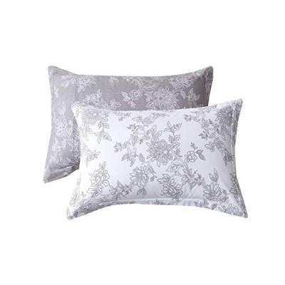 FADFAY 枕カバー 20 x 36インチ ヴィンテージ花柄枕カバー コットン100%枕カバー 2枚 キング/カリフォルニアキングサイズ