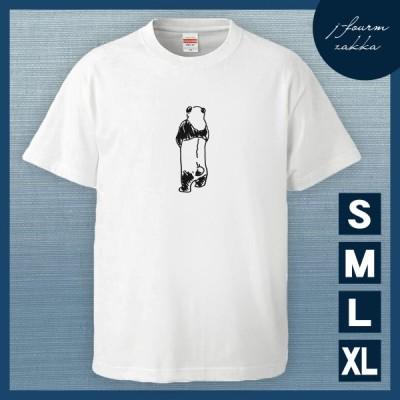 Tシャツ パンダ 動物 メンズ レディース おしゃれ 半袖 おもしろ 綿100% 大きいサイズ カジュアル xl 白 夏
