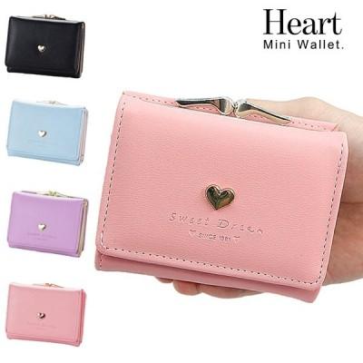 二つ折り財布 がま口 レディース ミニ財布 がま口財布 おしゃれ かわいい がまぐち ガマ口 パステル カード収納