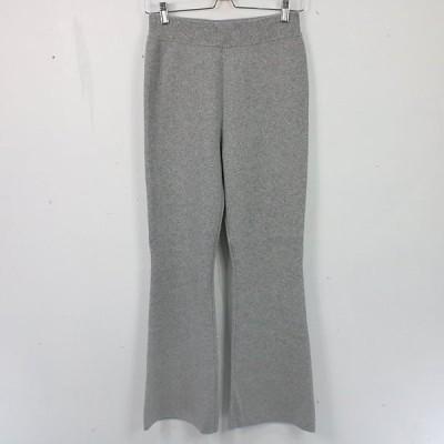 L'Appartment DEUXIEME CLASSE / アパルトモンドゥーズィエムクラス   2020   Flare Knit Pants フレアニットパンツ   34   グレーA   レディース