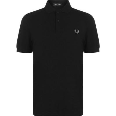 フレッドペリー Fred Perry メンズ ポロシャツ トップス Plain Polo Shirt Black/Chrome