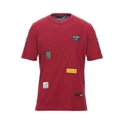 ラブ モスキーノ LOVE MOSCHINO T シャツ ボルドー XS コットン 100% / ポリウレタン T シャツ