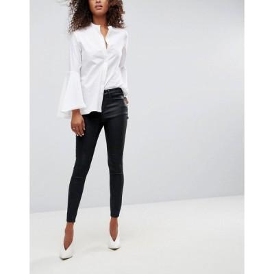 エイソス ASOS DESIGN レディース ジーンズ・デニム ボトムス・パンツ Asos Design 'Sculpt Me' Premium Jeans In Black Coated ブラック