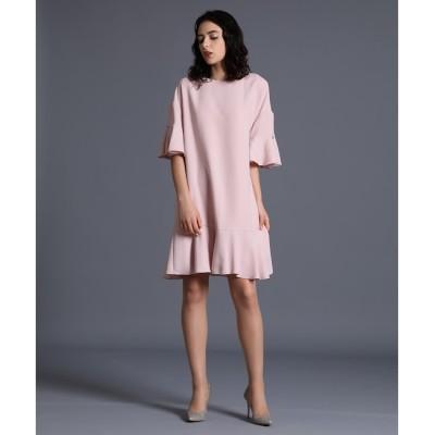 【エフデーゼ/EFDEISEE】 《M Maglie le cassetto》フレアスリーブドレス