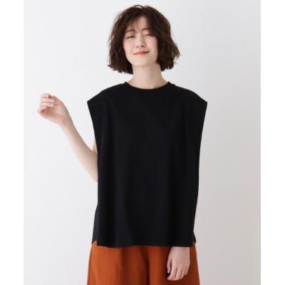 (SHOO・LA・RUE DRESKIP/シューラルー ドレスキップ)タックフレアーTシャツ/レディース ブラック(019)