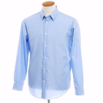 未使用 アダムエロペ Adam et Rope コットン ショートカラーシャツ ライトブルー M