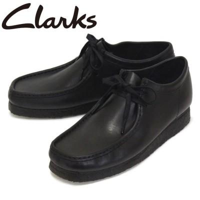 Clarks (クラークス) 26155514 Wallabee ワラビー メンズシューズ Black Leather CL026