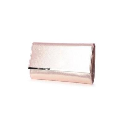 プレンドレ ラ ジョア prendre la joie バー金具ラメソフトタイプ パーティーバッグ  カラーフォーマルバッグ パーティーバック(ピンク