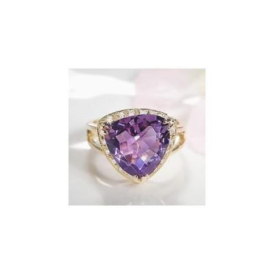 ダイヤモンド ダイヤ 指輪 リング アメジスト ゴールド カラーストーン K18 チェスカット CSR0179-18Y