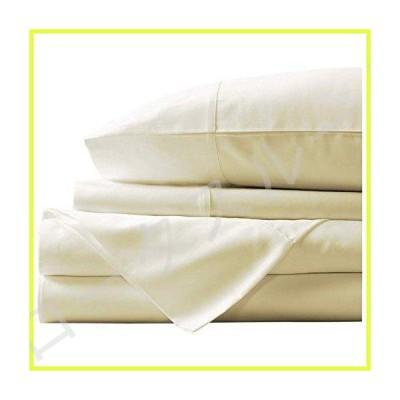Linen Mercado エジプト綿100%シーツセット 600スレッドカウント 超ソフト 丈夫なシーツ 深さ19インチのポケ