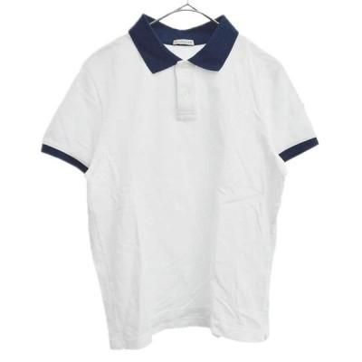 MONCLER (モンクレール) MAGLIA POLO MANICA CORTA D10918309850 84556 マグリアポロ アームワッペンバイカラー半袖ポロシャツ