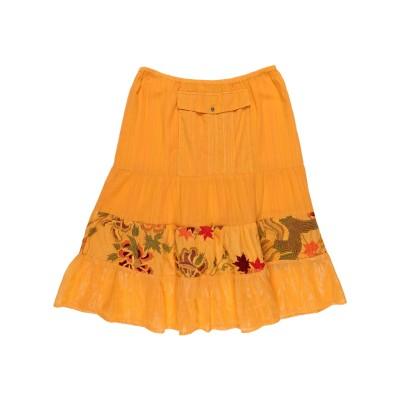 クスト・バルセロナ CUSTO BARCELONA ひざ丈スカート オレンジ 40 コットン 90% / レーヨン 5% / 金属化ポリエステル 5