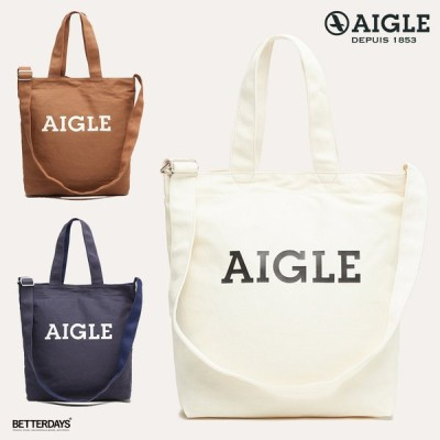 エーグル バッグ  トートバッグ ユニセックス コットンキャンバス ロゴトートバッグ  国内正規販売店 AIGLE