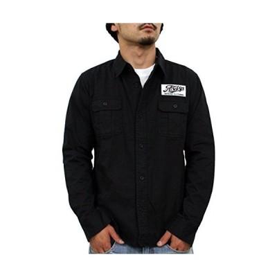 (アスナディスペック)ASNADISPEC シャツ メンズ ミリタリーシャツ 長袖 無地 刺繍 ワッペン付き カットソー as53004 (