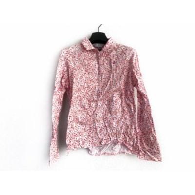 マンシングウェア Munsingwear 長袖ポロシャツ サイズLL レディース ピンク×レッド×白 花柄【還元祭対象】【中古】20200312