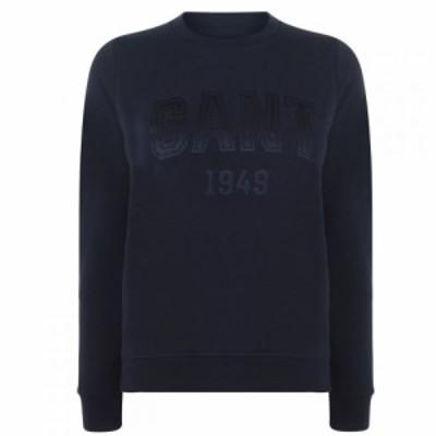 ガント Gant レディース スウェット・トレーナー トップス Logo Sweat Evening Blu