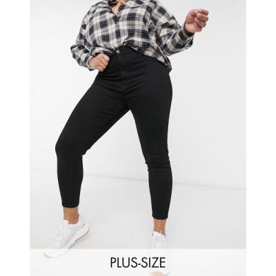 コットンオン Cotton:On Plus レディース ジーンズ・デニム ボトムス・パンツ Cotton:On Curve High Rise Skinny Jean In Black ブラック