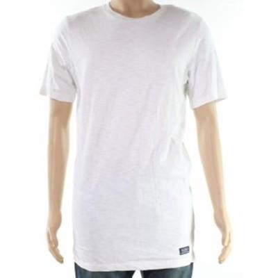 superdry スーパードライ ファッション トップス Superdry NEW White Mens Size Medium M Space-Dye Crewneck Tee T-Shirt