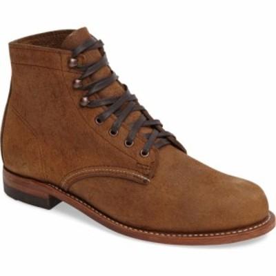 ウルヴァリン WOLVERINE メンズ ブーツ シューズ・靴 1000 Mile Plain Toe Boot Brown Waxy Suede