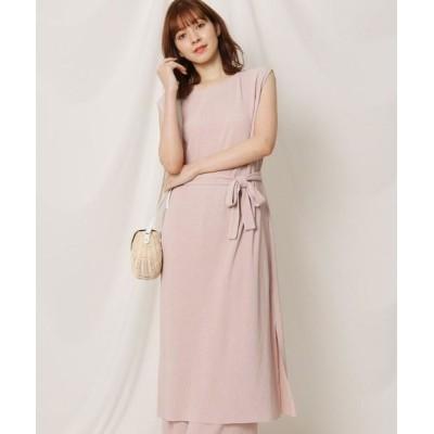 Couture Brooch/クチュールブローチ 【洗える】プリーツカットソーワンピース ピンク(070) 38(M)