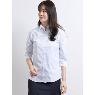 超速乾軽量 レギュラーカラークレリック7分袖シャツ