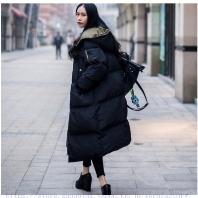 ロングコートレディースロング丈中綿ジャケットスプリングコートフード付きダウンコートアウター秋冬防寒防風お