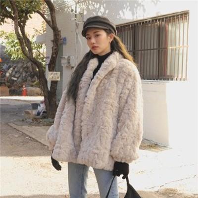 もふもふコート もこもこ アウター コート 前開き レディース 秋冬 暖かい  かわいい ボアブルゾン トップス 体型カバー 防寒 韓国 冬物