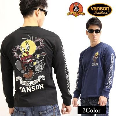 天竺長袖Tシャツ VANSON×LOONEY TUNES コラボ トゥイーティー ltv-2020[20_aw]