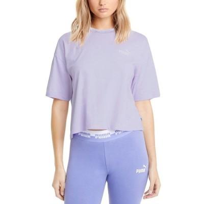 プーマ カットソー トップス レディース Amplified Logo Cropped T-Shirt Light Lavender