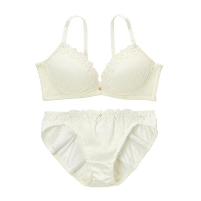 脇高 アンティークフラワーブラジャー・ショーツセット(D70/M) (ブラジャー&ショーツセット)Bras & Panties