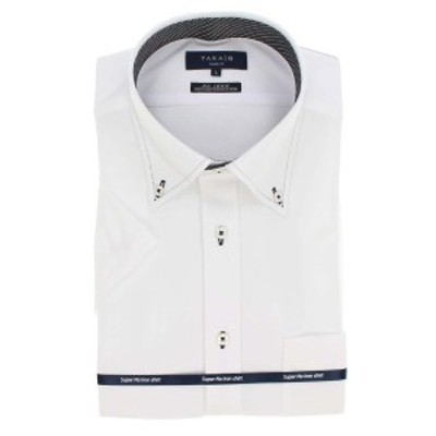 タカキュー(TAKA-Q)/ノーアイロンストレッチ スリムフィットボタンダウン半袖ニットシャツ