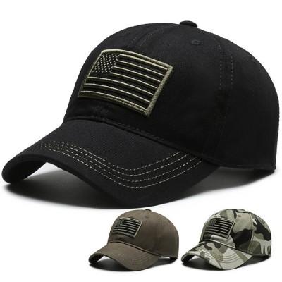 USA フラッグ アメリカ 国旗 ウォッシュド コットン ベース ボール キャップ 野球帽 帽子 スポーツ プリント ロゴ テキスト 刺? デザイン