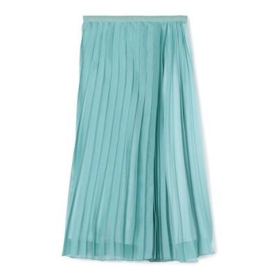 スカート ESTNATION / オーガンジープリーツスカート